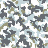 Winter Camouflage Seamless Pattern Royalty Free Stock Photos