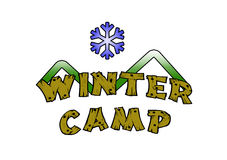 Winter Camp Royalty Free Stock Images