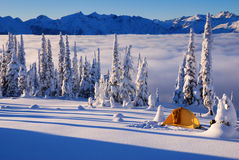 Winter Camping Royalty Free Stock Image