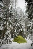 Winter Camping Royalty Free Stock Photos