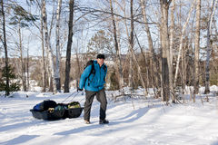 Winter Camping - Killarney Provincial Park, ON Royalty Free Stock Photos