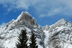 Winter canadian rockies Royalty Free Stock Photography
