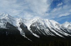 Winter canadian rockies Royalty Free Stock Photos