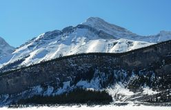 Winter canadian rockies Stock Image