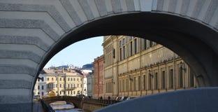 Winter Canal  in Saint Petersburg Stock Photo