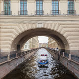 Winter Canal in St. Petersburg, Russia Stock Photography