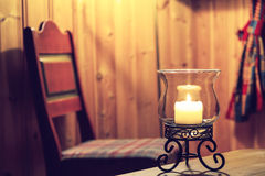 Winter candle Royalty Free Stock Photo