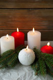 Winter candles Stock Image
