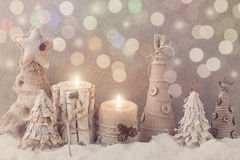 Winter candles Stock Images