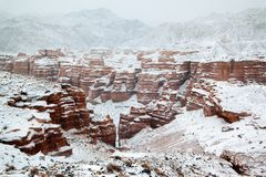 Winter canyon Stock Images