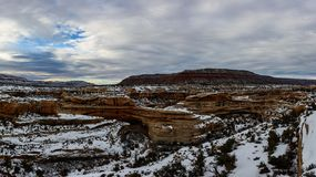 Winter canyon in Arizona. Covered with clean white snow Royalty Free Stock Photos