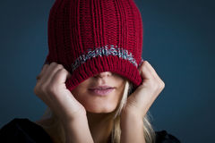 Winter cap Stock Images