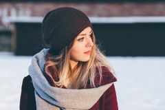 Winter, Cap, Human Hair Color, Girl Royalty Free Stock Photography