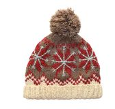 Winter cap on whaite background Stock Photos