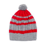 Winter cap on white background Stock Photography
