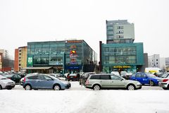 Winter in capital of Lithuania Vilnius city Pasilaiciai district Stock Image