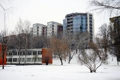 Winter in capital of Lithuania Vilnius city Zirmunai district Stock Image