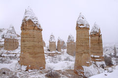 Winter in the Cappadocia  Royalty Free Stock Photo