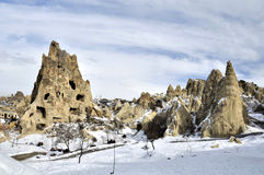 Winter Cappadocia Stock Photography