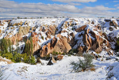 Winter in Cappadocia, Turkey Royalty Free Stock Photography