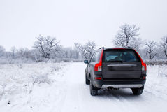 Winter car Stock Photos