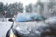 Winter car Royalty Free Stock Images