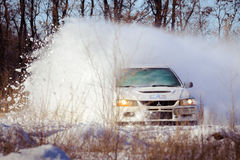 Winter car rally cars zavriryuha in dnipro city ukraine Royalty Free Stock Images