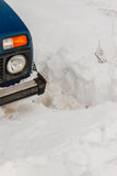 Winter car in snow Royalty Free Stock Image