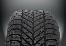 Winter car tire Stock Images