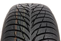 Winter car tire Stock Image