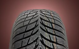 Winter car tire Royalty Free Stock Image