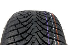 Winter car tire Royalty Free Stock Images