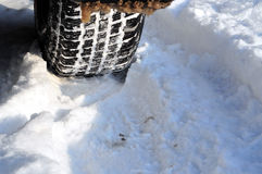 Winter car tire tread Stock Image