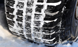 Winter car tire tread Royalty Free Stock Images