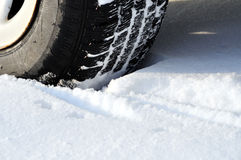 Winter car tire tread Stock Photo