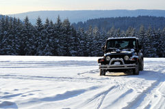Winter car tire tread offroad Stock Photo
