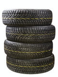 Winter car tires Stock Photo