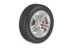 Winter car tyre Stock Image