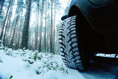 Winter car wheel Royalty Free Stock Photography