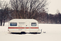 Winter caravan Stock Photography