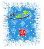 Winter card. A illustration of winter card design Royalty Free Stock Photos
