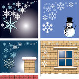 Winter card and background Royalty Free Stock Photo