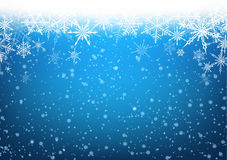 Winter card. Blue winter card with snowflakes. Vector paper illustration Royalty Free Stock Image