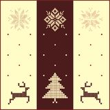 Winter card Royalty Free Stock Photography