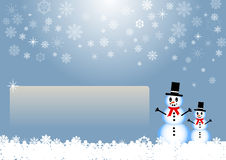 Winter card with empty place for your text Stock Image