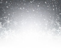 Winter card. Gray winter card with snowflakes. Vector paper illustration Stock Image