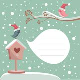Winter card with place for your text Royalty Free Stock Image