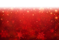 Winter card. Red winter card with snowflakes. Vector paper illustration Stock Photos