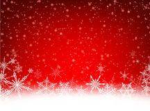Winter card. Red winter card with snowflakes. Vector paper illustration Royalty Free Stock Photography