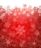 Winter card. Red winter card with snowflakes. Vector paper illustration Royalty Free Stock Photos